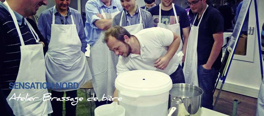 Atelier Brassage de bière, animation Sensation Nord